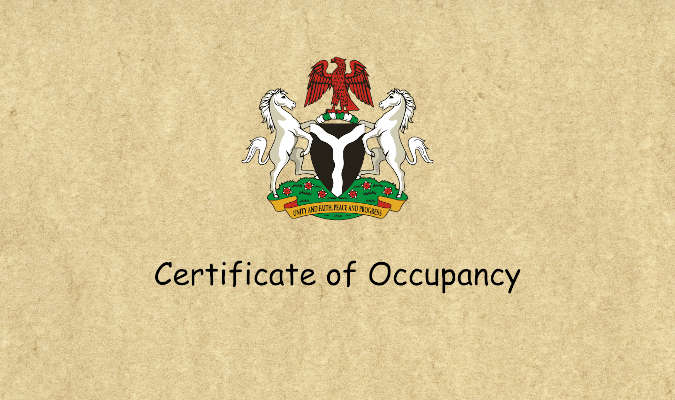 nigeria certificate of occupancy