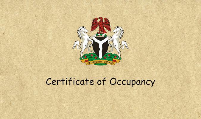 nigeria certificate of occupancy
